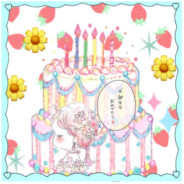 可愛いイラストを使った誕生日プレゼント