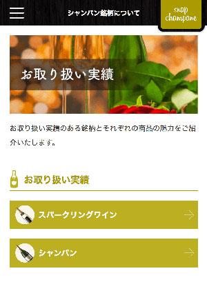 スナップシャンパンをプレゼントしたいけど、シャンパンの種類や違いがわからなくてどれを選ぶか迷ってしまう・・といったお客様に、是非見ていただきたいのが新しくなった「お取り扱い実績」のページ