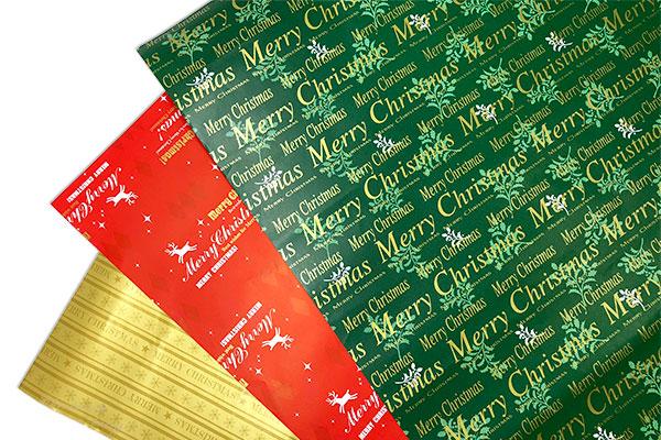 スナップシャンパンのクリスマス仕様の包装紙